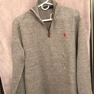 Polo Ralph Lauren gray 100% cotton sweater. NWT